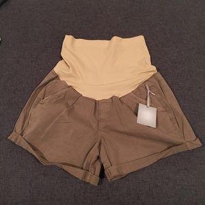 Pants - A glow khaki maternity shorts NWT 2 and 8